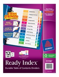 Avery® Ready Index® Table of Contents Dividers 11150, Packaging Image