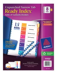 Avery® Ready Index® Unpunched Table of Contents Dividers 11153, Packaging  Image