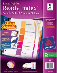 Avery 11161 Ready Index Divder Packaging Image