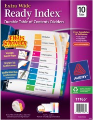 Avery 11165 Ready Index Divder Packaging Image