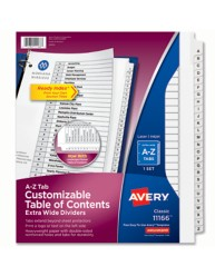 Avery Extra Wide Ready Index A-Z Dividers