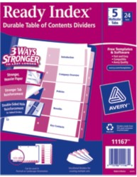 Avery Ready Index Dividers 11167 Packaging Image