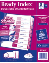 Avery Ready Index Dividers 11168 Packaging Image