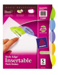Avery Style Edge Insertable Plastic Dividers 11200 Packaging Image
