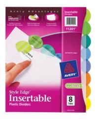 style edge insertable plastic reference dividers 11201 8 With avery templates 11201
