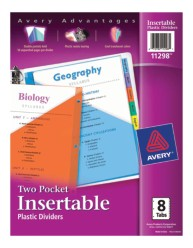 Avery® Big Tab™ Two-Pocket Insertable Plastic Dividers 11298, Packaging Image