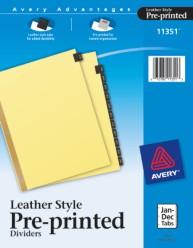 Black Leather Tab Dividers