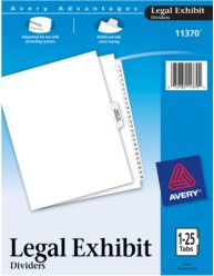 Legal Dividers - Premium Collated Sets, 1-25 & Table of Contents