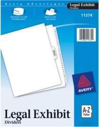 Legal Dividers- Premium Collated Sets, A-Z and Table of Contents