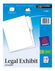 Avery® Premium Collated Legal Dividers Avery Style 11381, Packaging Image