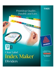 Avery® Index Maker® Clear Label Dividers 11405, Packaging Image