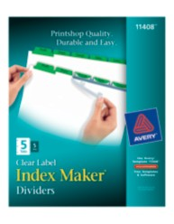Avery® Index Maker® Clear Label Dividers 11408, packaging image