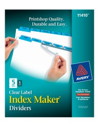 Index Maker Clear Label Dividers with Color Tabs, Packaging Image