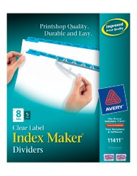 Index Maker Clear Label Dividers with Color Tabs 11411 Packaging Image