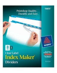Avery® Index Maker® Clear Label Dividers 11411, Packaging Image
