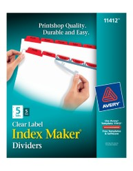 Avery® Index Maker® Clear Label Dividers 11412, Application Image