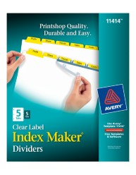 Avery® Index Maker® Clear Label Dividers 11414, Packaging Image