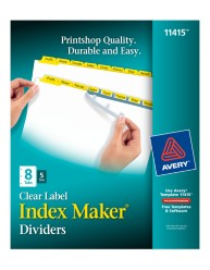 Avery® Index Maker® Clear Label Dividers 11415, packaging image
