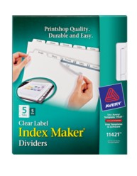 Avery® Index Maker® Clear Label Dividers 11421,  Packaging Image