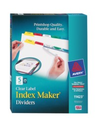 Avery® Index Maker® Clear Label Dividers 11423, Packaging Image