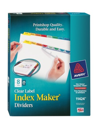 Index Maker Clear Label Dividers with Color Tabs 11424