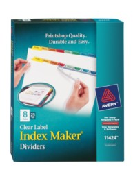 Avery® Index Maker® Clear Label Dividers 11424, Packaging Image