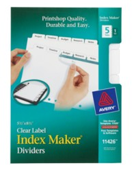 Avery® Mini Index Maker® Clear Label Dividers 11426, Packaging Image