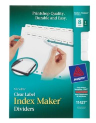 Avery® Mini Index Maker® Clear Label Dividers 11427,  Packaging Image