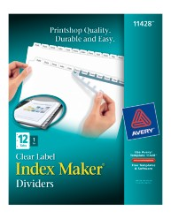 Index Maker Clear Labels Dividers with White Tabs