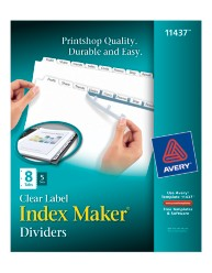 Avery Index Maker Clear Labels Dividers 11437 Packaging Image
