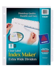 Avery® Index Maker® Extra-Wide Clear Label Dividers 11439, Packaging Image
