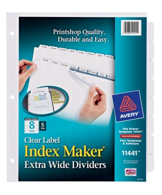 Index Maker Clear Label Extra Wide Dividers 11441