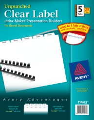 Index Maker Clear Label Translucent Dividers