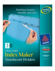 Avery® Index Maker® Clear Label Dividers 11451, Packaging Image
