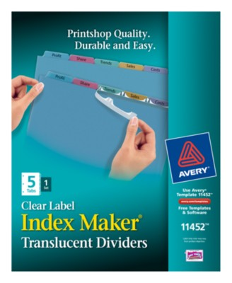 Index Maker Clear Label Translucent Dividers 11452