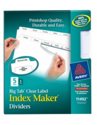 Avery Index Maker Big Tab Dividers 11492 Packaging Image