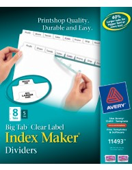 Avery Index Maker Big Tab Dividers 11493 Packaging Image