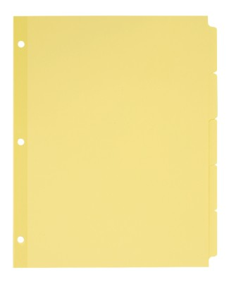 Plain Tab Dividers with Non-Laminated Tabs 11501