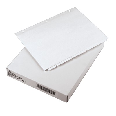Plain Tab Dividers with Non-Laminated Tabs 11507