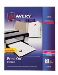 Avery® Print-On™ Dividers 11511, Packaging  Image