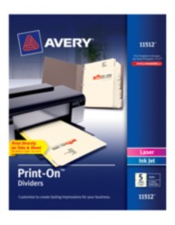 Avery® Print-On™ Dividers 11512, Packaging Image