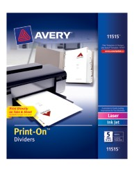 Avery® Print-On™ Dividers 11515, White,Packaging Image
