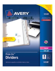Avery® Print-On™ Dividers 11528, Packaging Image