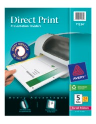 Avery Direct Print High Speed Presentation Dividers 11534
