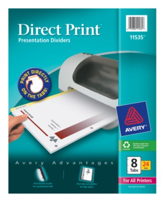Direct Print Custom Dividers 11535