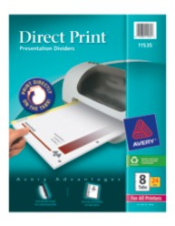 Avery Direct Print Presentation Dividers 11535