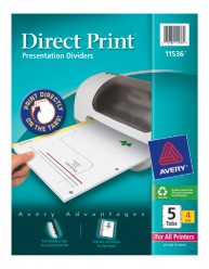 Avery Direct Print Presentation Dividers 11536