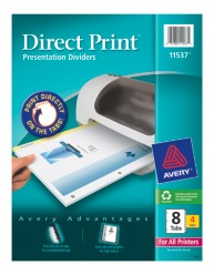 Avery Direct Print Presentation Dividers 11537