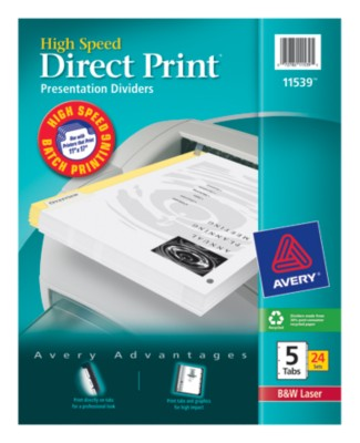 Direct Print High Speed Presentation Dividers 11539
