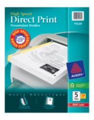 Avery Direct Print High Speed Presentation Dividers 11539